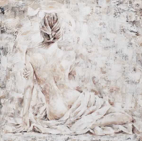 Schilderij 100x100 Naakte vrouw