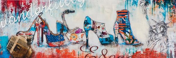 Schilderij pumps 50x150