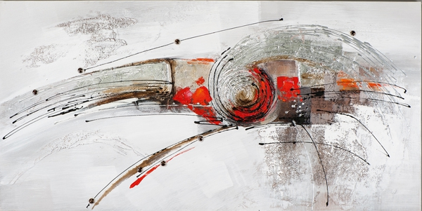 schilderij 70x140 abstract