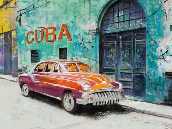 schilderij 90x120 Cuba