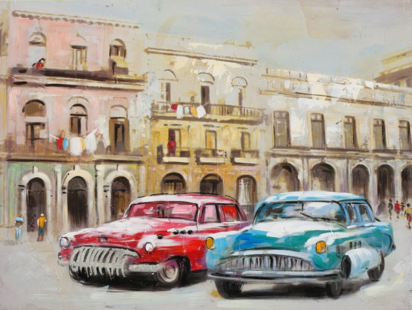 schilderij 60x80 Cuba