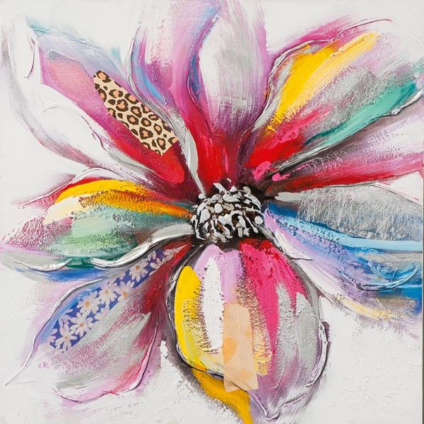 schilderij bloem 75x75