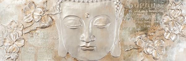 Schilderij Boeddha 50x150