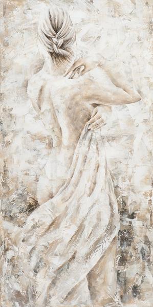 schilderij vrouw 60x120