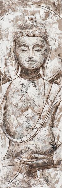 schilderij boedha 50x150