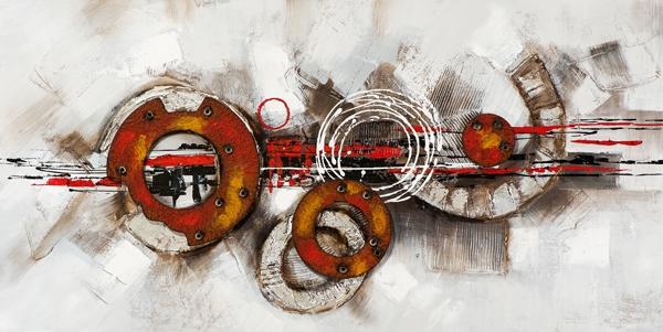 schilderij modern cirkels 70x140