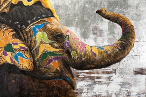 schilderij olifant 100x150