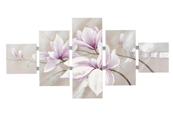schilderij Bloemen 80x162