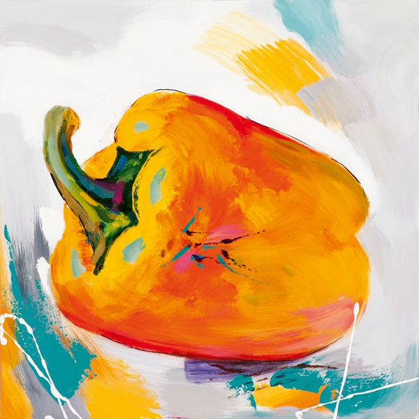 schilderij Paprika 40x40