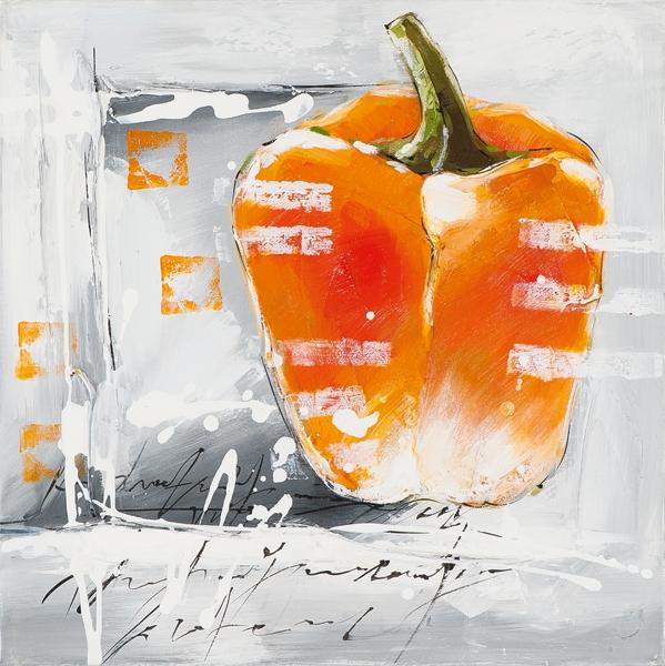 Schilderij paprika 25x25