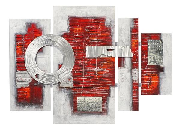 Schilderij 4 luik totaal 115x159 Met Metaal