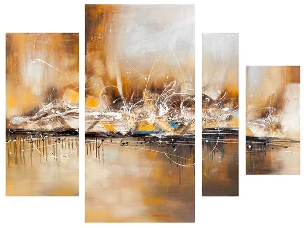 ilxe654 - Schilderij 4 luik totaal 115x159 Abstract