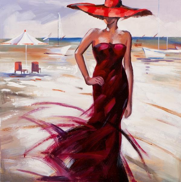 Schilderij 100x100 Vrouw