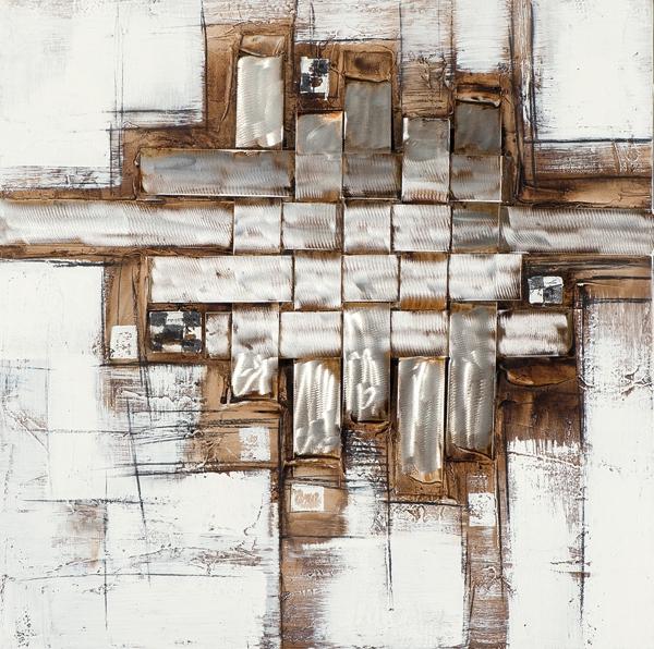 Schilderij 100x100 met Metaal