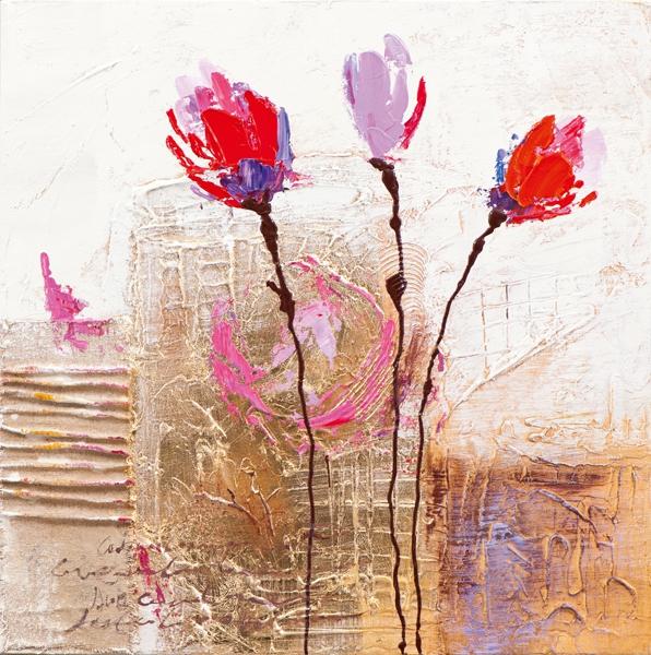Schilderij tulpen 25x25
