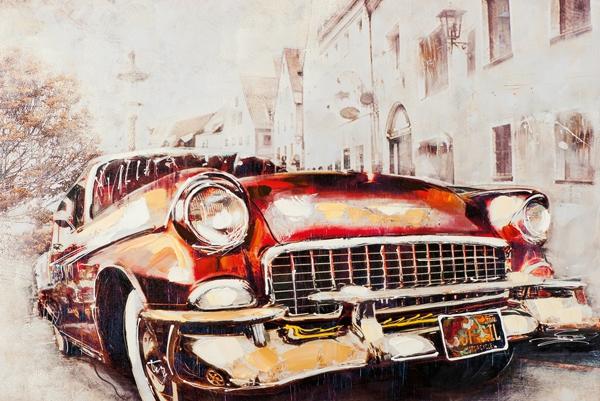 schilderij oldtimer 80x120