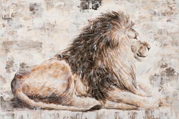 schilderij Leeuw 80x120