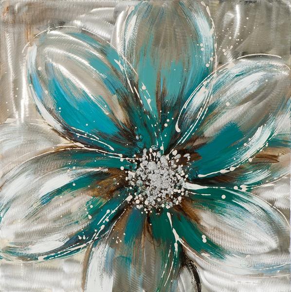 schilderij bloem 60x60
