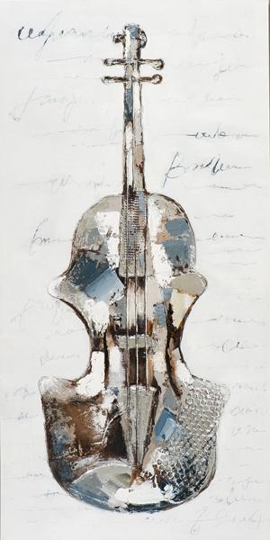ilxe886 - Schilderij viool 70x140