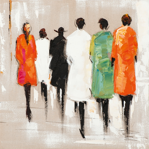 schilderij figuratief 70x70