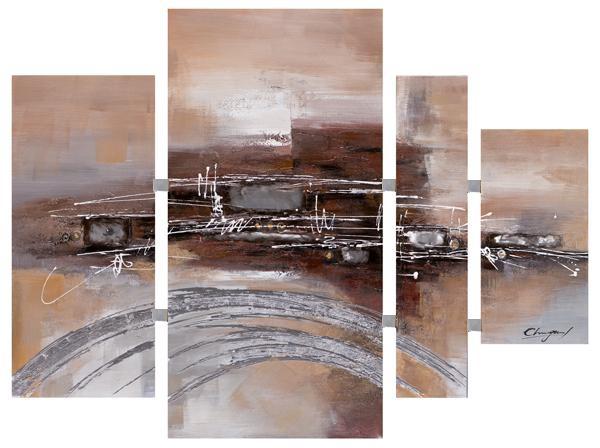 Schilderij 4 luik totaal 115x159 Metaal