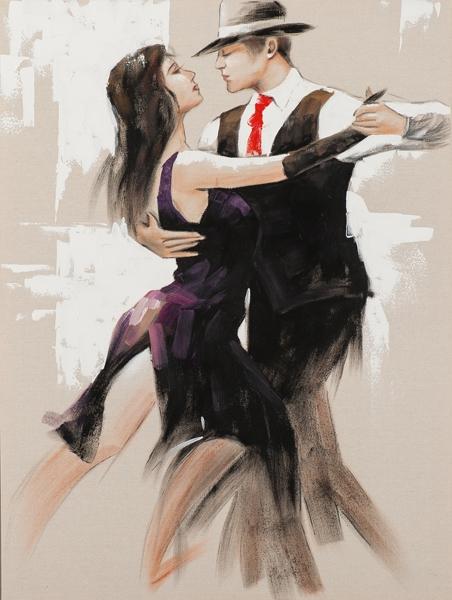 schilderij danspaar 90x120