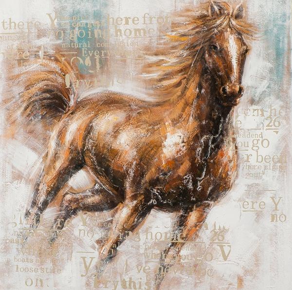 schilderij paard 100x100