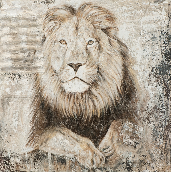 schilderij leeuw 100x100
