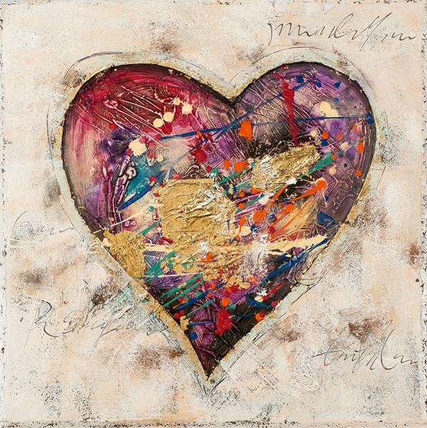 schilderij hart modern 70x70