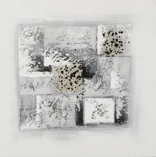 schilderij modern zilver 70x70
