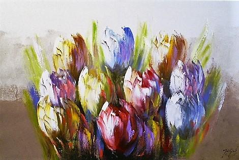 Schilderij tulpen 80x120