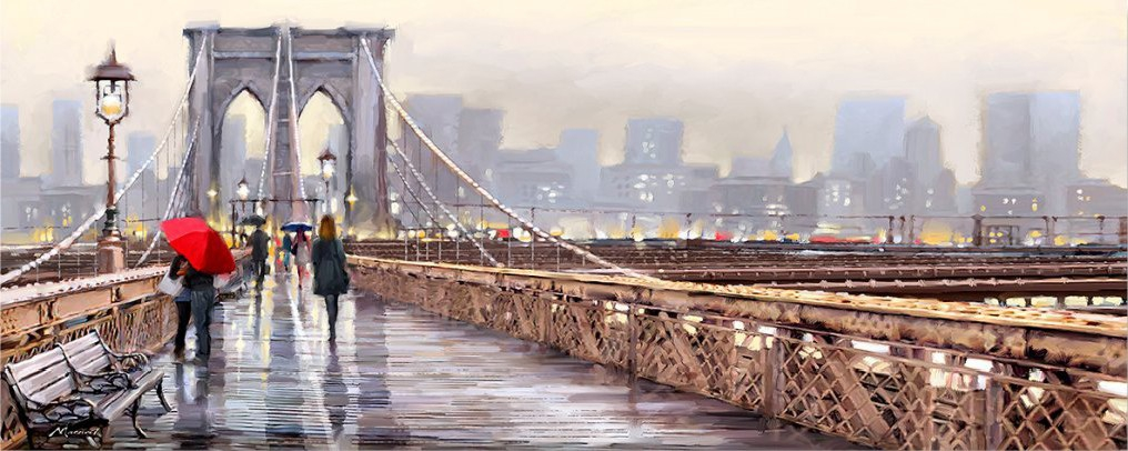 New York Bridge 60x150