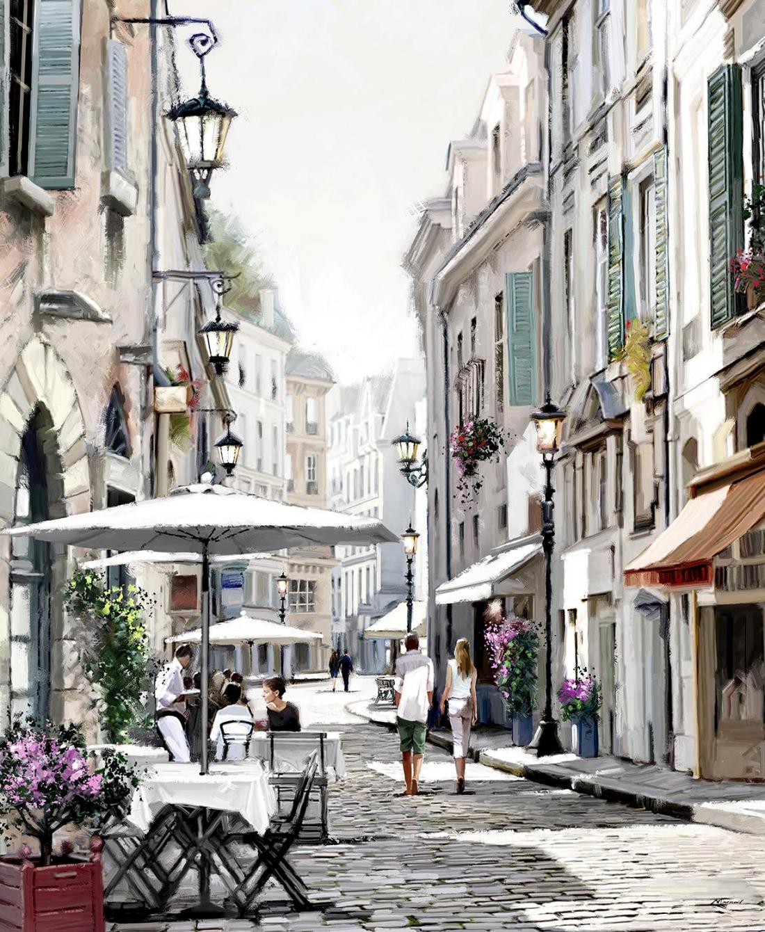 Parijs straat 75x100