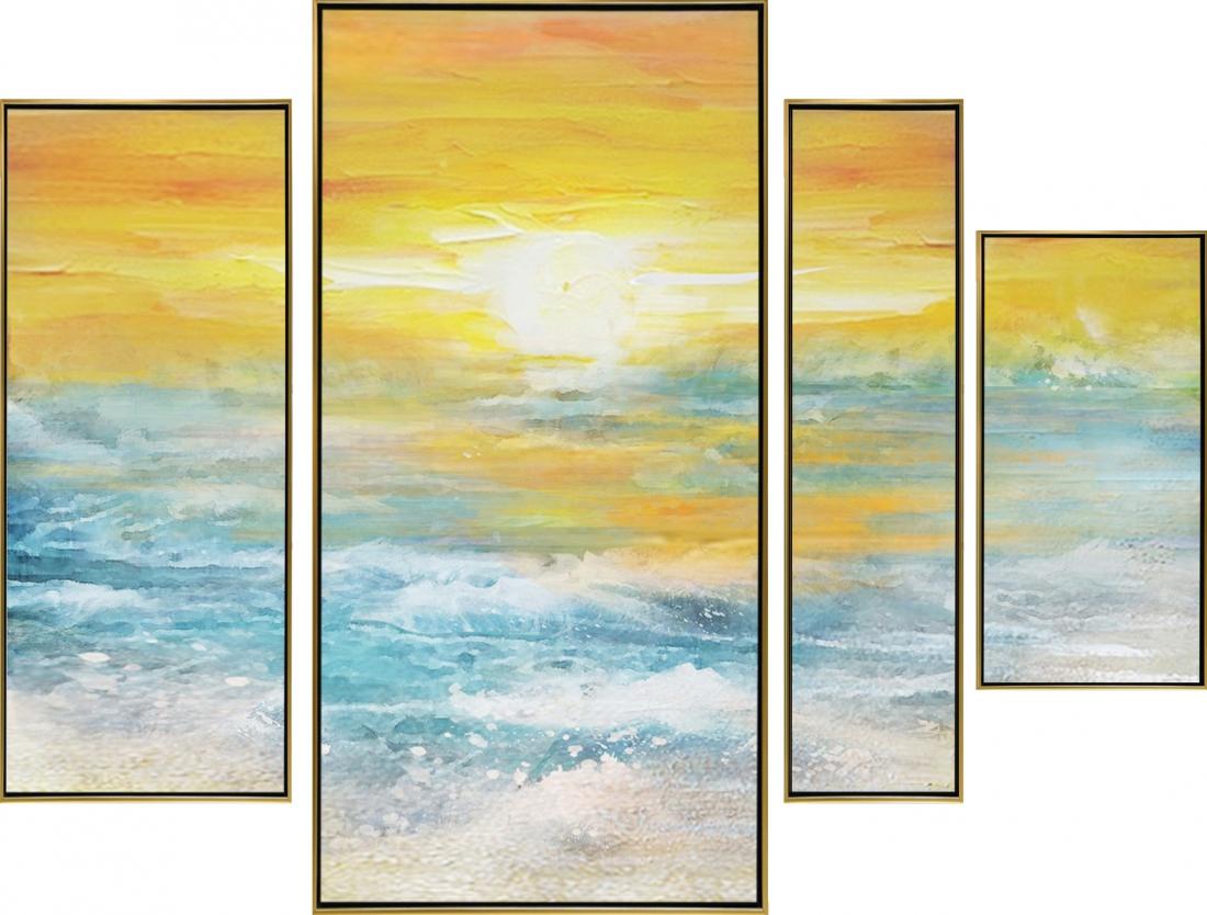 Meerluik schilderij horizon 85x125