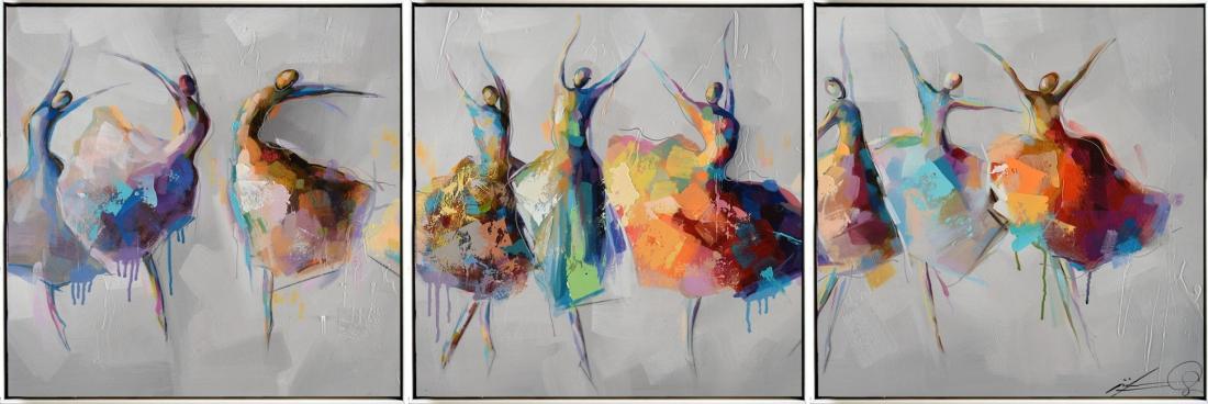 Schilderij figuratief 3-luik 50x156