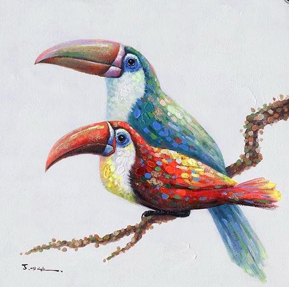 schilderij toekan 50x50