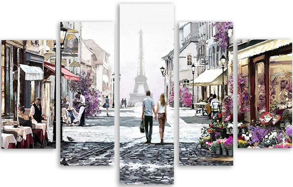 Meerluik schilderij Paris 100x150