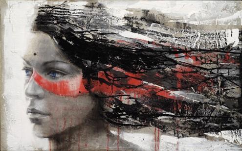 Schilderij Face 75x120