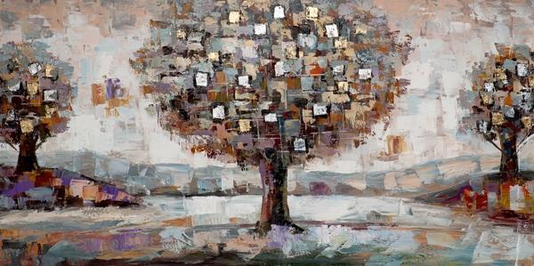 schilderij 70x140 Modern boom