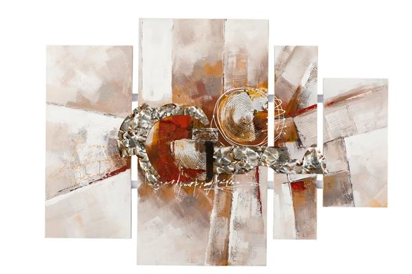 4 luik schilderij modern 80x109