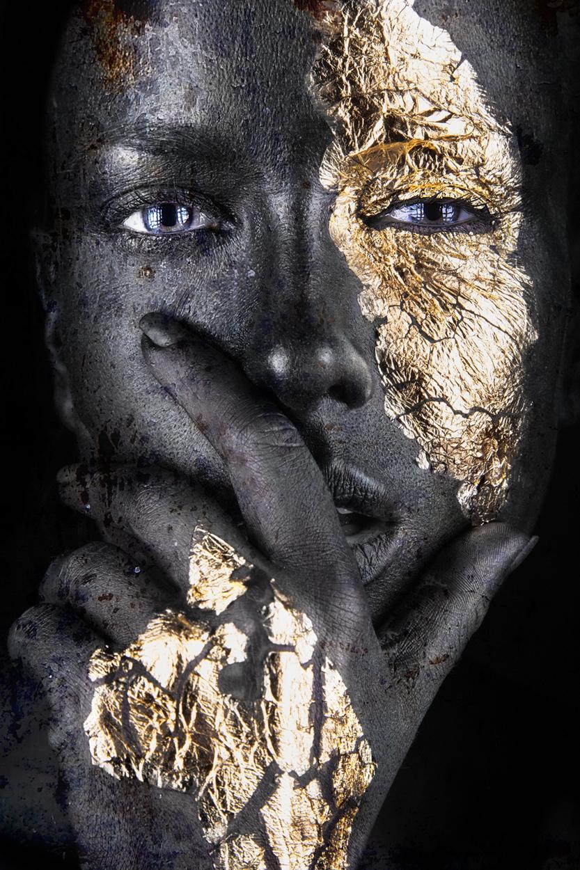 fotokunst Gold 100x75