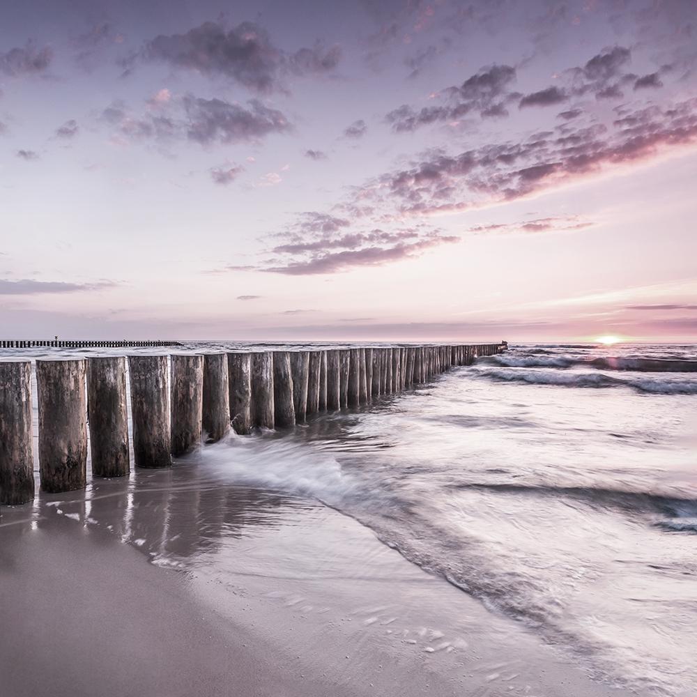 Fotokunst strand 70x70