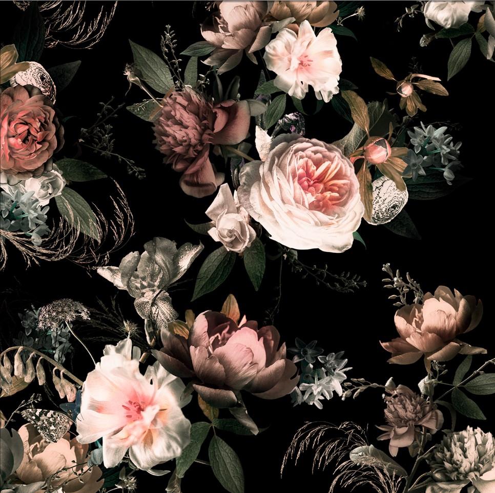 Fotokunst bloemen 70x70