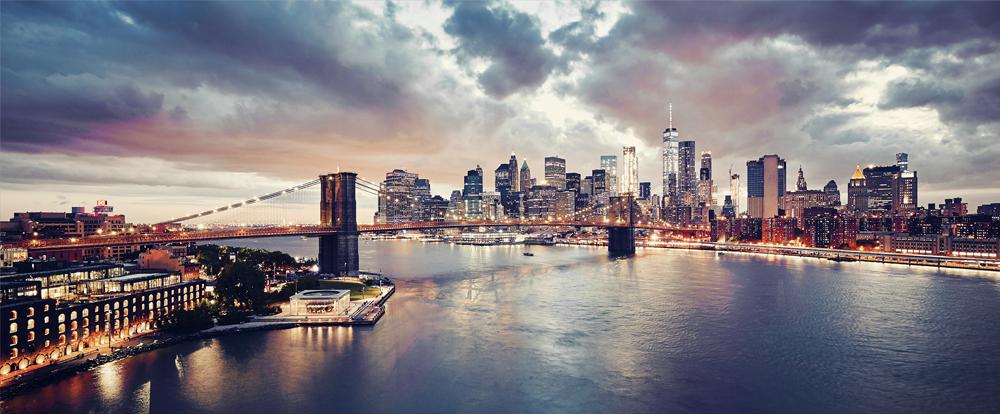 Fotokunst Brooklyn Bridge 60x150