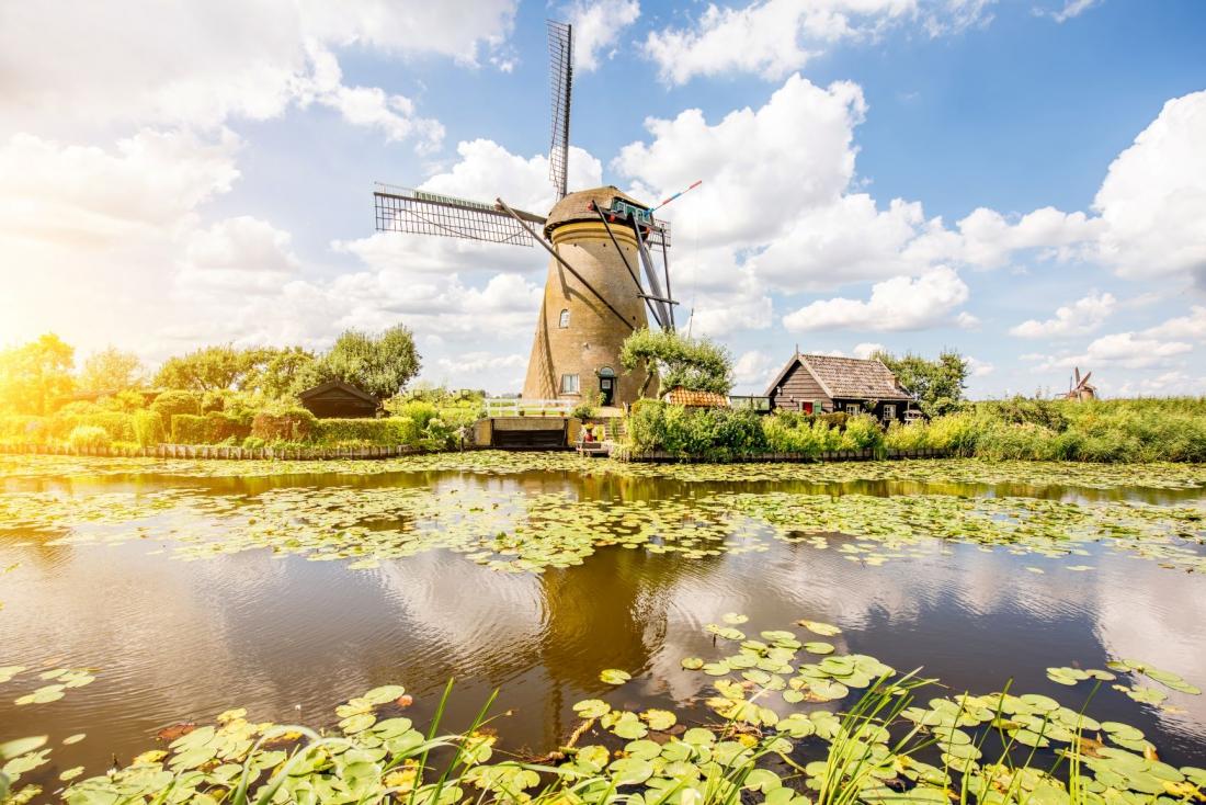 Fotokunst Nederlandse molen 75x100