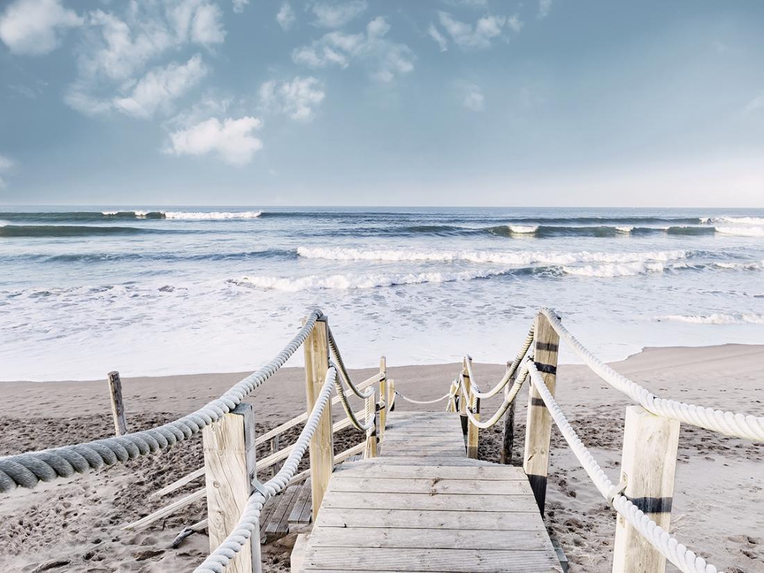 Fotokunst dagje strand 75x100