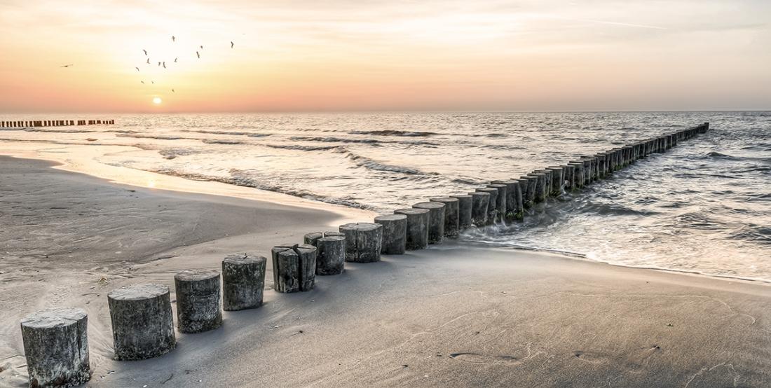 fotokunst zee en strand 70x140