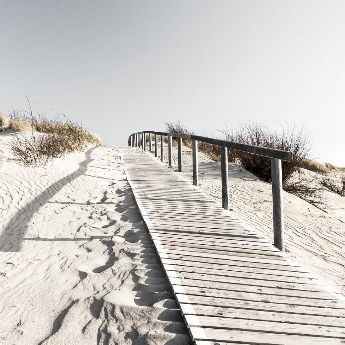 fotokunst strand en duinen 70x70