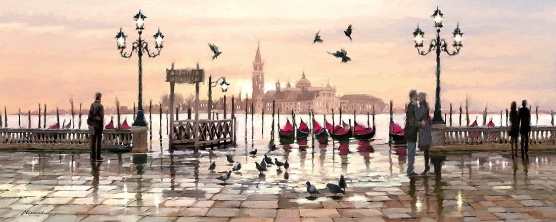 schilderij Venetië 60x150