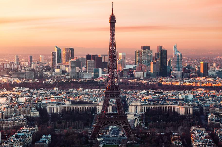 fotokunst Eiffeltoren Parijs 75x100